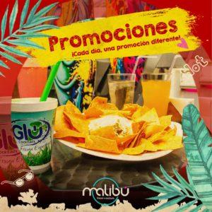 promociones de comidas y bebidas-malibu bar en cali-restaurante ne cali